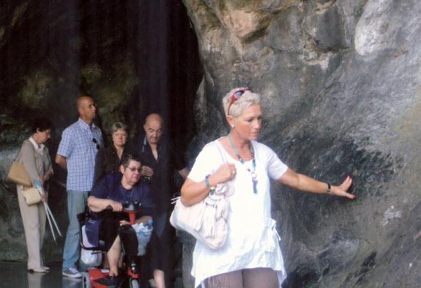 Pèlerin à Lourdes - France