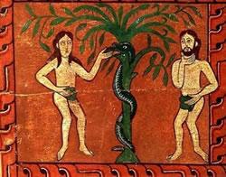 Adam, Ève et serpent