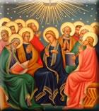 Marie et apôtres - Don de l'Esprit