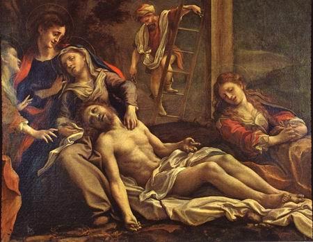 XIIIème Station - Jésus est descendu de la Croix et remis à sa Mère CORREGGIO_Deposition_From_The_Cross