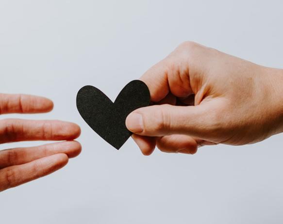 Don, Amour, mains de Kelly Sikkema (unsplash.com)