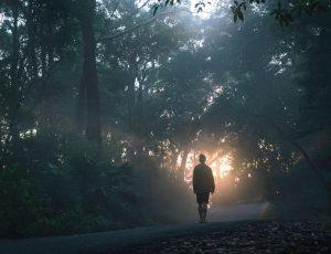 Homme qui marche vers la lumière de Spencer Gogin (unsplash.com)